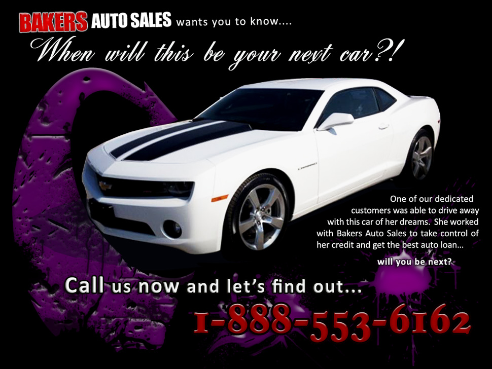 Your Dream Car - Baker's Auto Sales